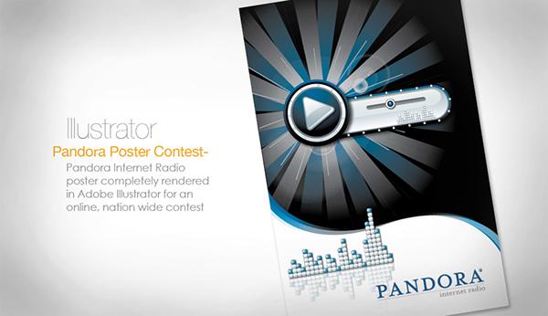 pandora Illustrator contest poster vector