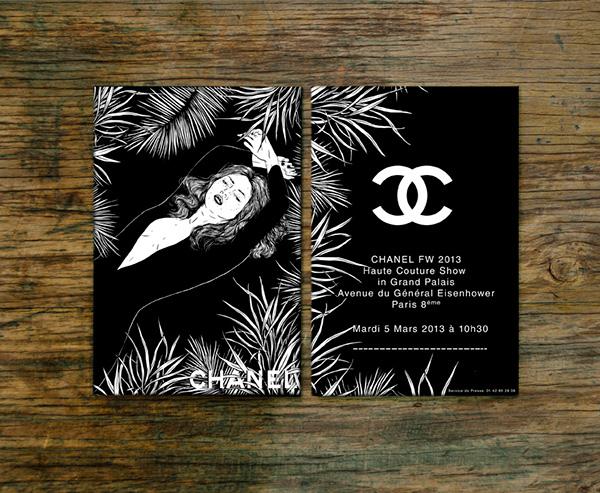 Chanel Fw 2013 Invites On Behance