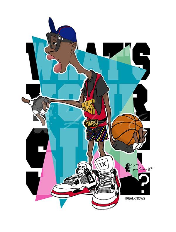 Basketball Illustration - Mars Blackmon. design