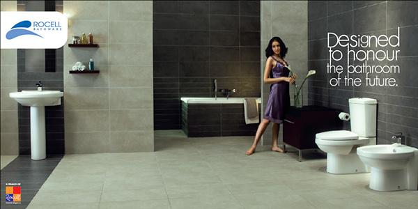 Rocell tile brand identity on behance for Sri lankan bathroom designs