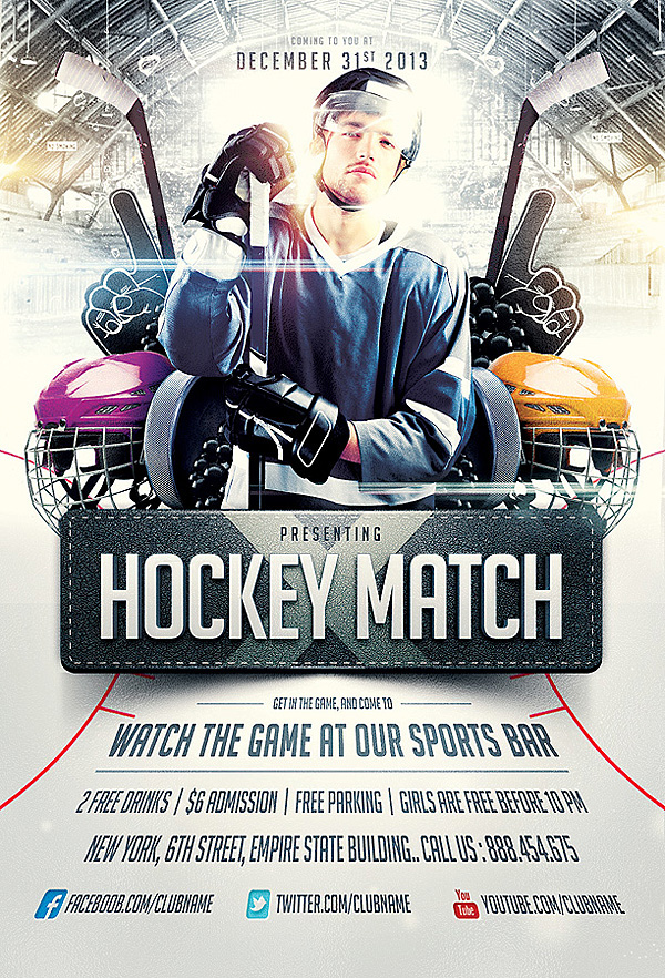 Collection Of Sports Flyer Templates On Behance