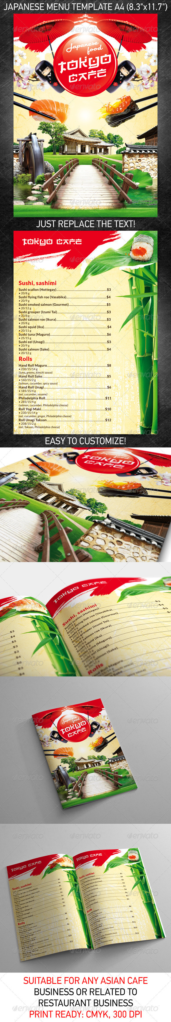 Japanese menu template psd on behance pronofoot35fo Choice Image