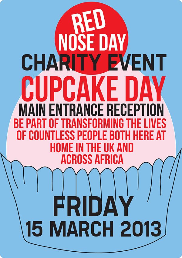 Red nose day charity event flyer and poster on Behance