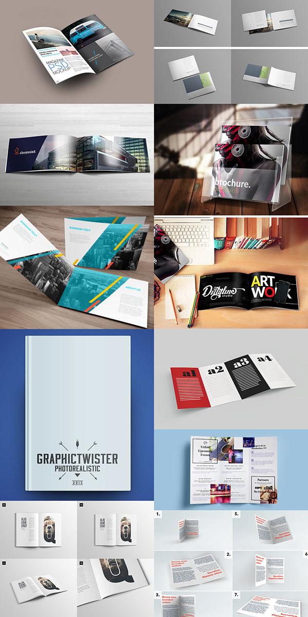 20 free magazine book brochure psd mock up templates on behance