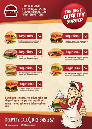 Fast Food Flyer Menu on Behance