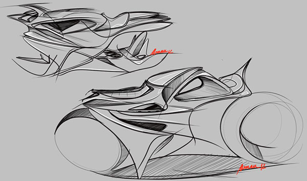 honda motorcycles concept sketches on behance