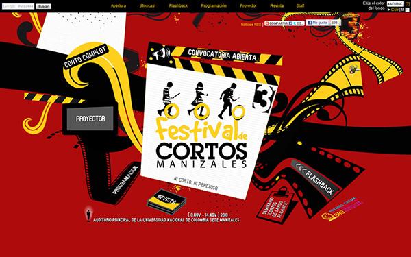 fcm festival cortos cine Cinema film festival Flash Web HTML fallback Responsive