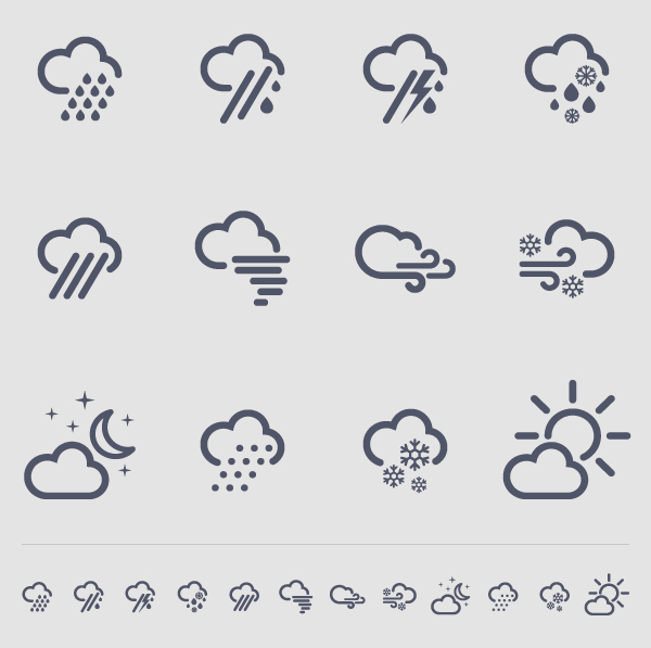 Weather Icons For Compass54 Iphone App On Behance