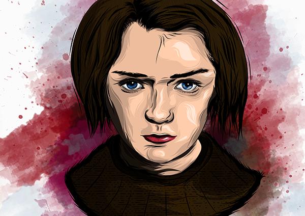 Arya Stark Adobe Draw On Wacom Gallery
