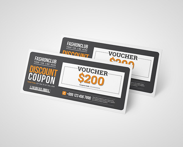 discount coupon design template on student show