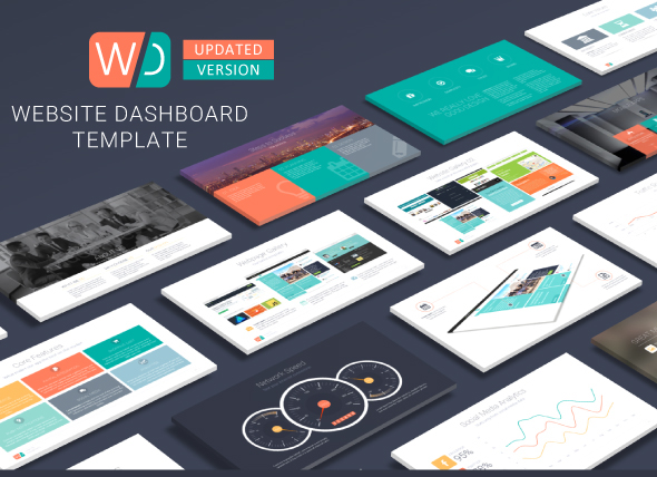 website dashboard presentation template on behance, Powerpoint templates