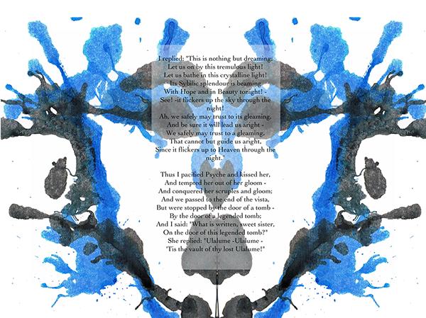Poe Edgar Allan Poe Poetry  Ink Blots rorschach