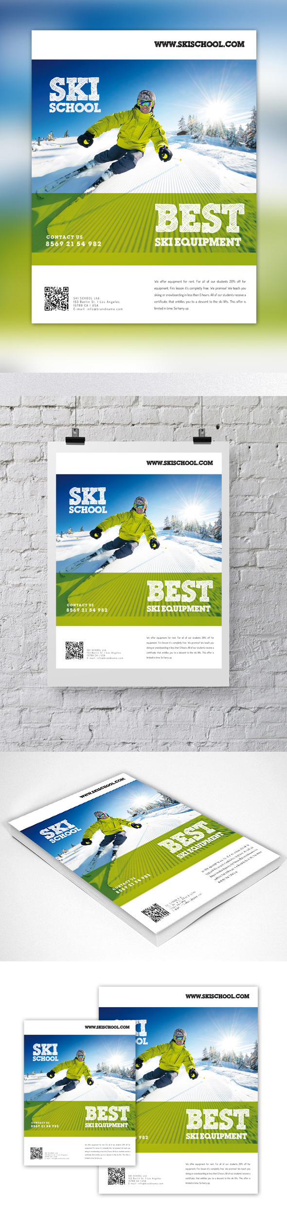 ski school flyer graphic river on behance new flyer for more about this design on my graphic river acount