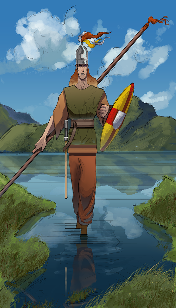 cu chulainn irish heroic warrior Runes: b he possesses north european magical crests called runes warriors in the lands of shadows excel at many arts, and no warrior is ever raised to merely thrust a spear.