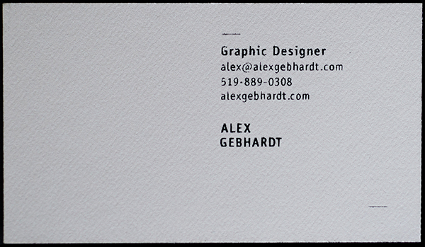 screen printing business cards vintage floral Thick black pattern minimalist