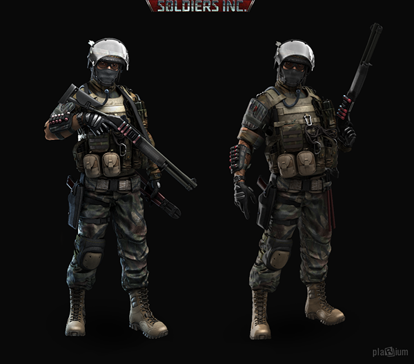 Some Old Stuff From Game 'Soldiers Inc' (c) Plarium On Behance