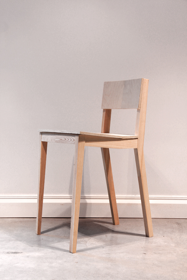 Simple wooden chair on behance