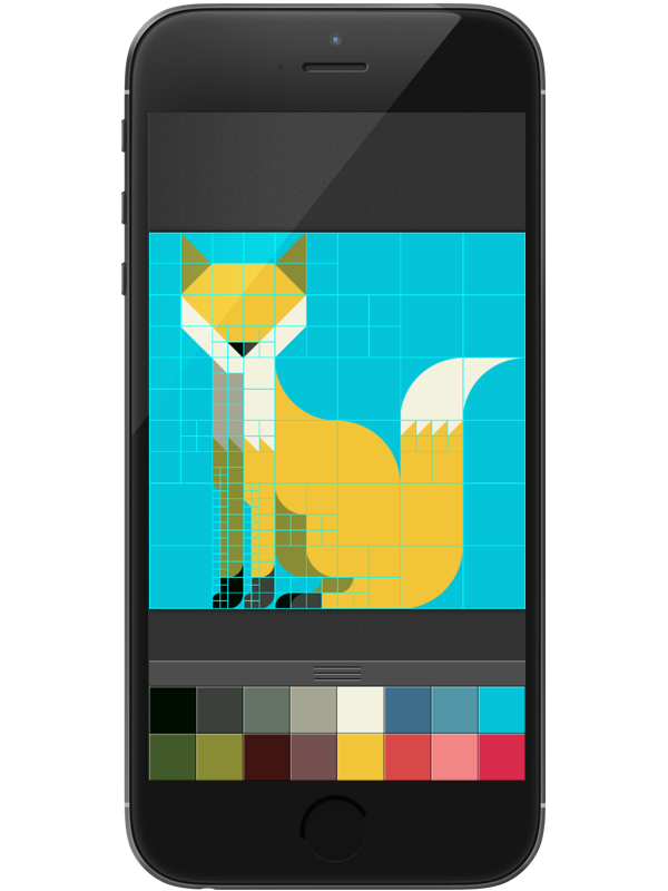 Animal Set 2 With A Drawing App On Pantone Canvas Gallery