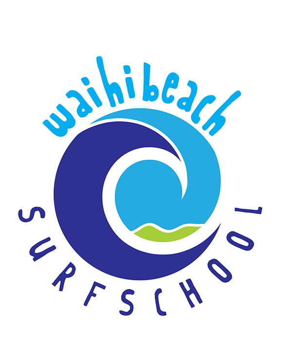 Surf School Logo Waihi Beach Surf School on