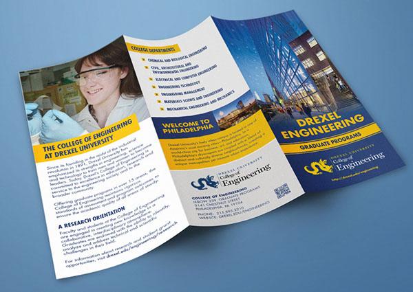 drexel engineering graduate programs brochure on behance