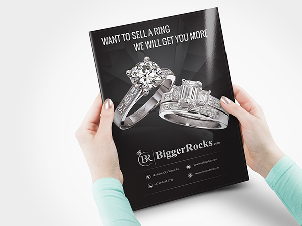 Flyer Design For A Jewelry Shop On Behance
