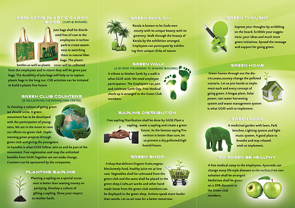 Ggse go green save earth on behance for Facts about going green