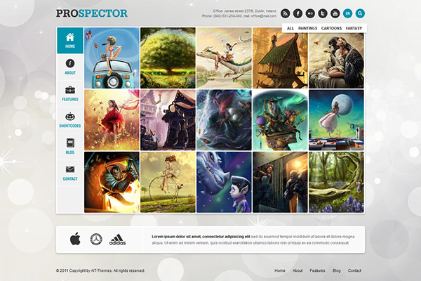 Prospector Responsive Portfolio Wordpress Theme on Behance