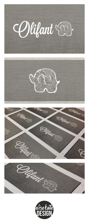 olifant logo business card on behance