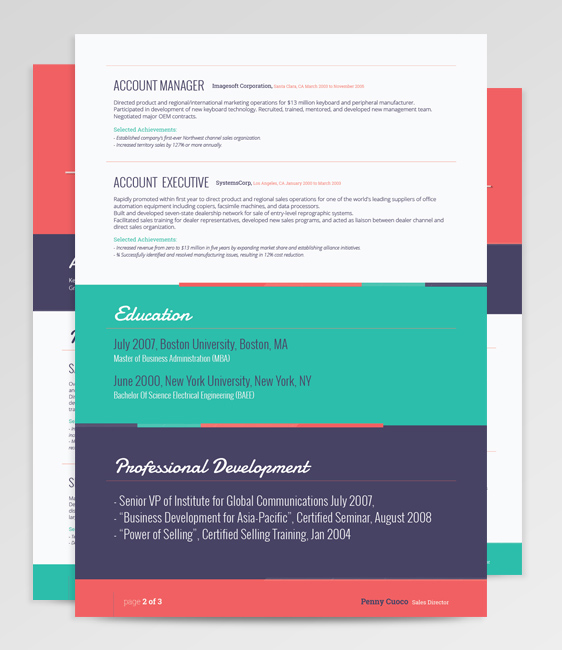 Ara – Flat Resume Template on Behance