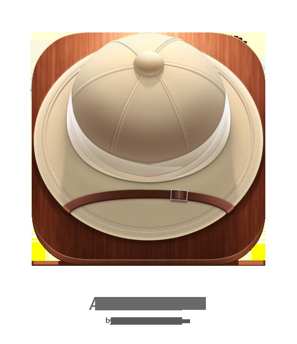 icons UI ux ios app hat safari adventure adventurer