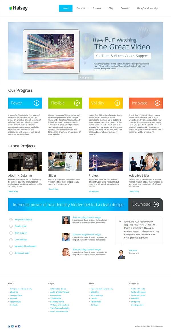 Halsey WordPress Theme