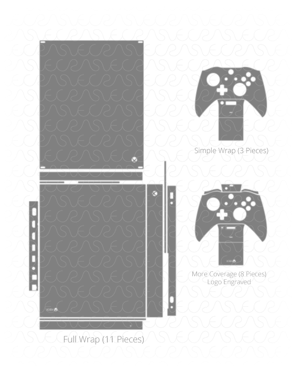 XBOX One X Console & Controller Vinyl Vector Cut File on ...