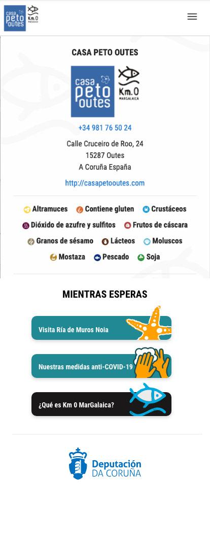 Hostelry Online Menu Mobile-First Design ux/ui design interactive prototype