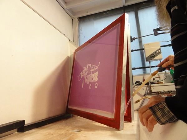 tind indyvisuals silkscreen poster screen print pvc the slackers slackers design print Love