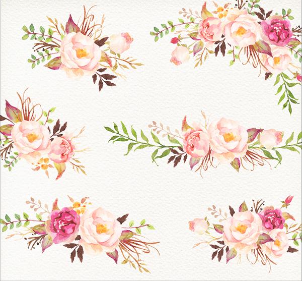 Romantic Blooms Watercolour Clip Art/Rose on Behance