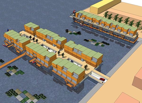 Water dwelllings,floating houses,Dyke housing,boat houses