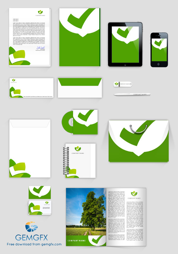 psd corporate identity mock up on behance, Powerpoint templates