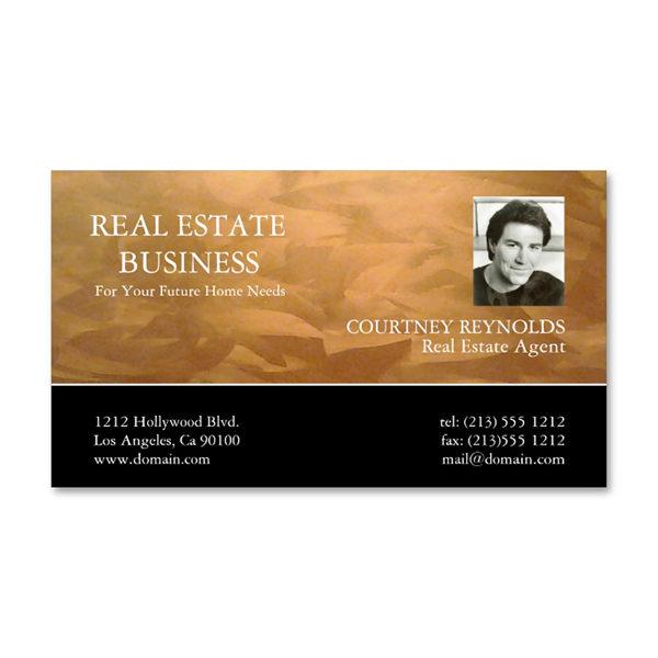 Real Estate Agent Copper Business Cards on Behance