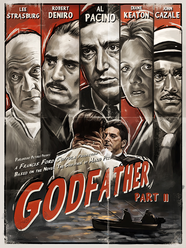 """the godfather part ii Moving through the deep shadows and heavy glooms of his vast estate, michael corleone presides over the destruction of his own spirit in """"the godfather, part ii."""