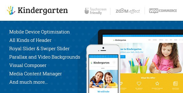 Kindergarten | Children WordPress Theme on Behance
