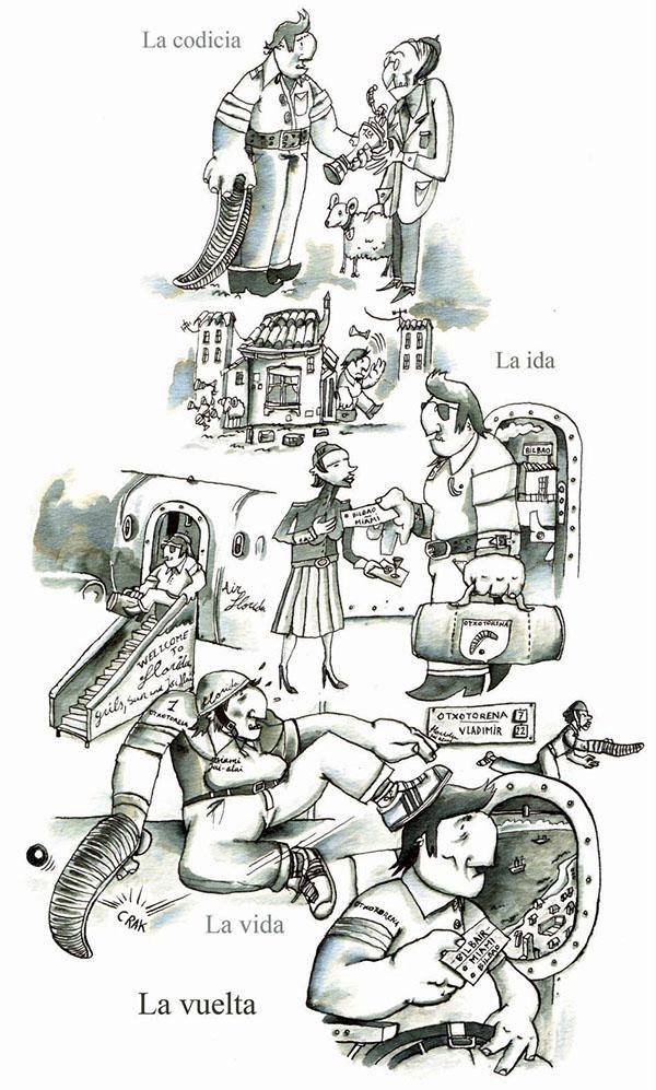 ilustracion frontón storyboard
