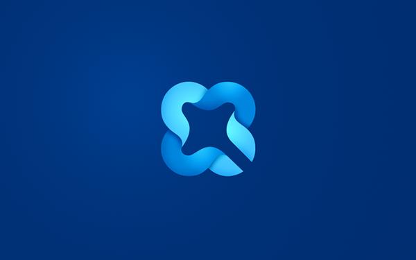 logo lucky clover ribbon software quadro four Website identity brand
