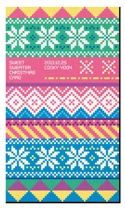 2013 sweet sweater christmas card on behance - Christmas Sweater Wallpaper