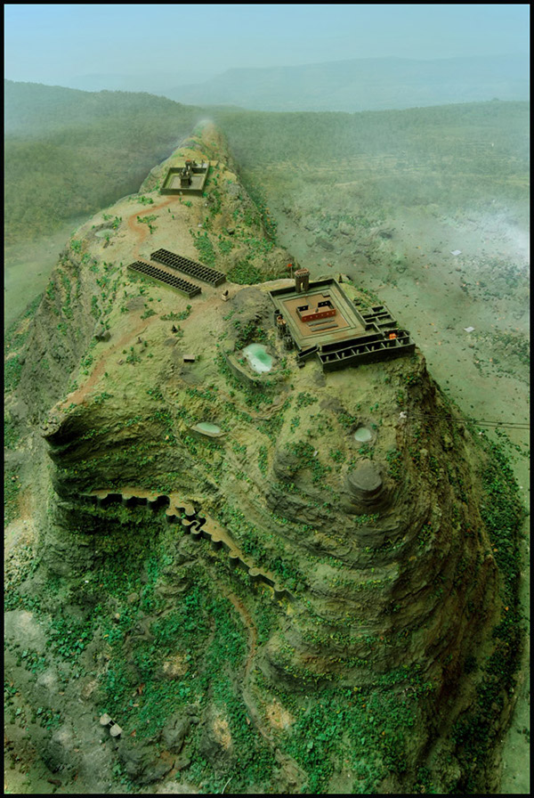 raigad fort miniature model on behance