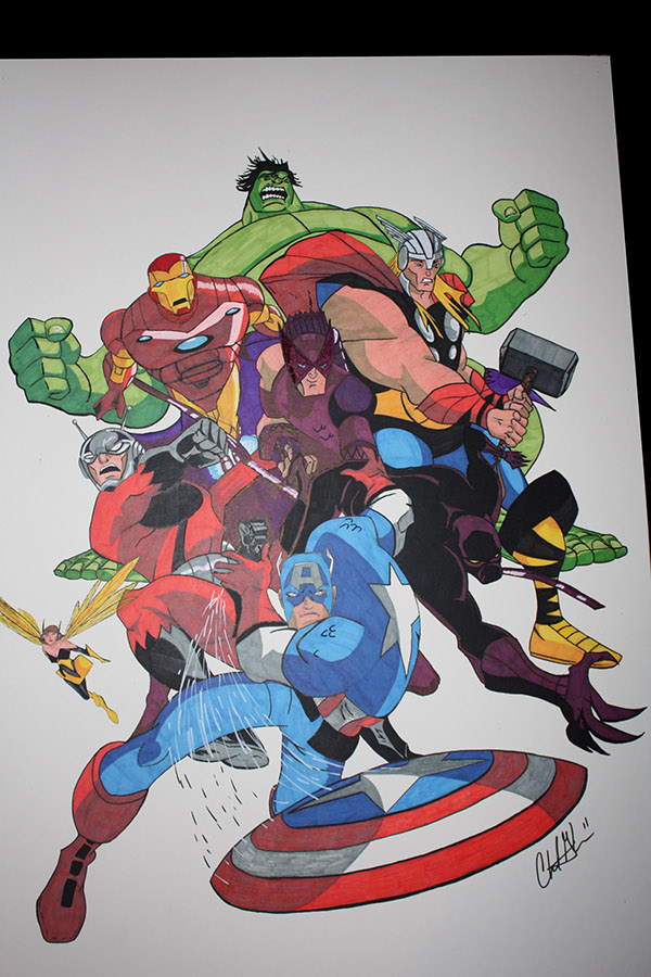 Avengers Cartoon Drawings Avengers From The Cartoon