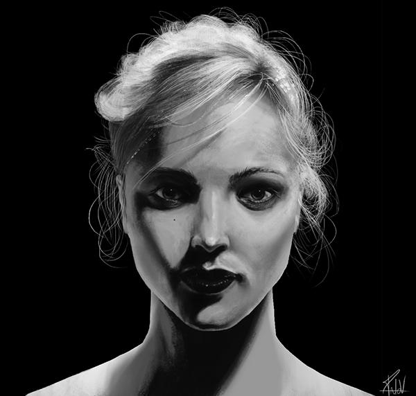 portrait black and White blackwhite bw