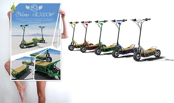 eco design  trasportation design monopattino Scooter eletric