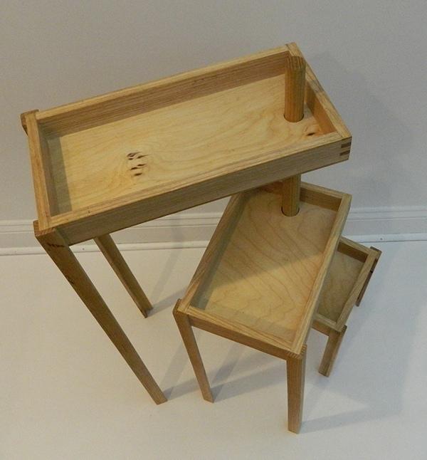 Ash Wood Table ~ Modular ash wood table on risd portfolios