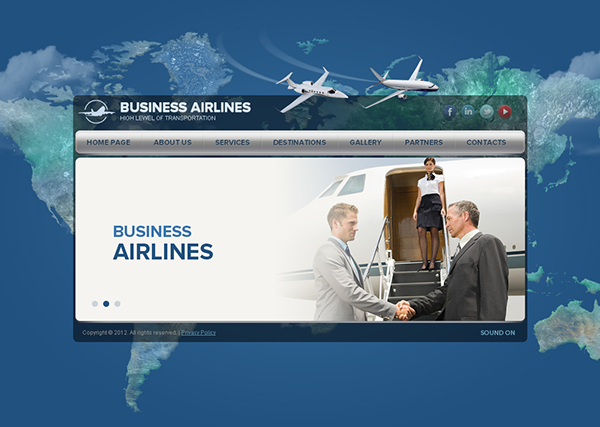 Business Airlines Transportation HTML5 Template
