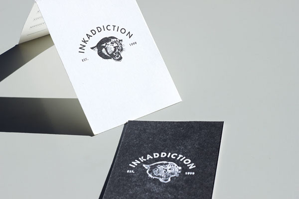 Tattoo shop visit card on behance colourmoves